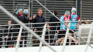 Prince Harry on the Millenium Bridge