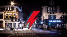 Bowie tribute: Three storey iconic 'make-up flash'