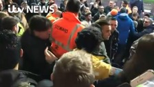 Watch: Utd fan gets attacked by travelling Blackburn fans