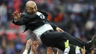 Chelsea manager Roberto Di Matteo is thrown in the air as Chelsea celebrate victory in the FA Cup. Photo dated 05/05/2012.