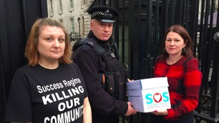 Campaigners blocked from handing petition to Downing Street