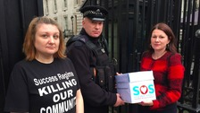 Siobhan Gearing and Sue Hayman MP say the decision not to allow them through was not taken by the police.