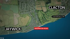 A man has been robbed at knifepoint near Clacton in Essex.