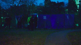 A large tent has been put up where a man's body was found