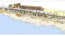 An artists impression of Whitley Bay