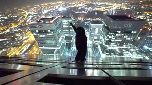 Thrill seekers post video online of climb to top of Canary Wharf's One Canada Square
