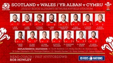 Here's the Wales team to face Scotland this weekend