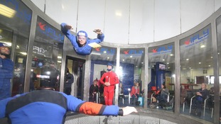 Coleen Rooney takes part in indoor skydiving session
