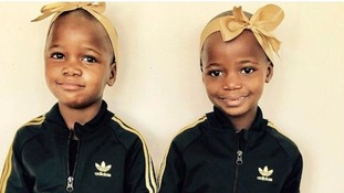 Madonna shares photo of newly adopted daughters in matching tracksuits