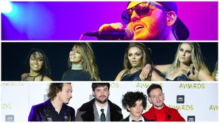 James Arthur, Little Mix and The 1975