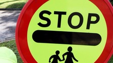 Driver fined for crashing into lollipop lady and children