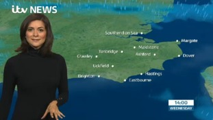 Wednesday's weather for the east of the region