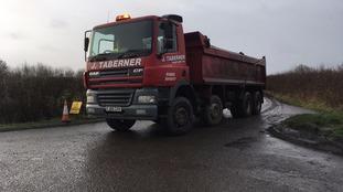 A lorry-load is taken away