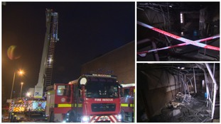 Pictures from inside fire-damaged leisure centre