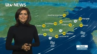 Wednesday's lunchtime weather for the east of the region