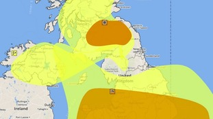 Weather warnings are in force across the region.