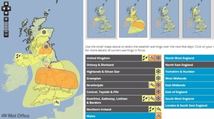 The Met Office have issued a weather warning for most of the UK.