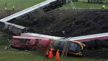 The Virgin Pendolino train crashed near Little Docker Cottage, in the Grayrigg area.