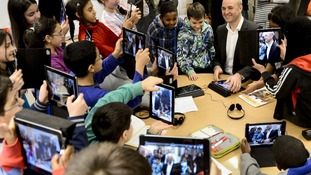 Pupils met the Prime Minister at Husby School, west of Stockholm