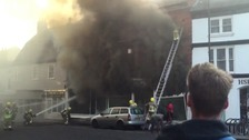 Friars Street in flames in September 2015.