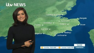 Thursday morning's weather for the east of the region
