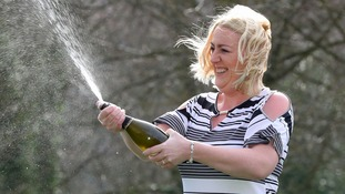Yorkshire mum turns down the champagne to celebrate £14.5million EuroMillions win with a bottle of prosecco