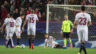 Pablo Sarabia puts the home side ahead.