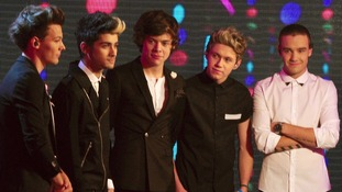 One Direction pictured on Children In Need