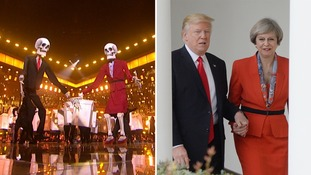 Brits 2017: Katy Perry 'targets Donald Trump and Theresa May' during performance