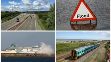 Travel disruption as storm Doris sweeps in