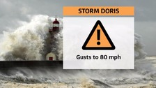 Drivers urged to 'change plans' as Storm Doris hits the North West
