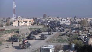 Iraqi army attack key military base near Mosul airport
