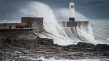 Porthcawl in a storm