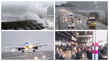Travel chaos as Storm Doris hits UK with winds of 90mph
