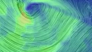 Storm Doris strikes London disrupting road, rail and air travel