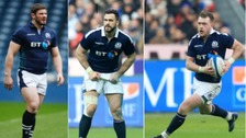 (L-R) Ross Ford, Alex Dunbar and Stuart Hogg