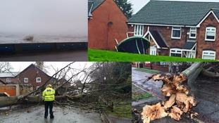 Some of the damage caused by Storm Doris