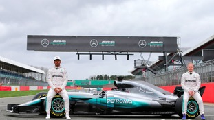 Lewis Hamilton and Valtteri Bottas unveil the new Silver Arrow