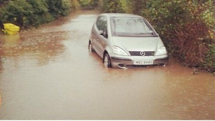 A car in Yatton, north Somerset