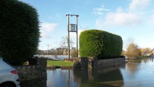 Flooding in Hambridge, Somerset
