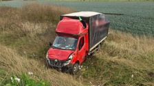 The truck blew off the A141 near Chatteris