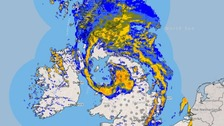 Storm Doris: Wind and heavy rain felt across the North East