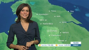 Early morning weather forecast with Lucy Verasamy