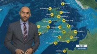 Short spell of dry and bright weather tomorrow before more rain and wind come Saturday