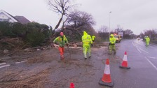Power to storm hit homes to be restored by end of day