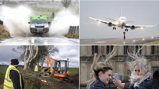 Photos show Storm Doris damage as 95mph winds batter Britain