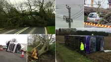 Storm Doris brought a trail of destruction to the Anglia region.