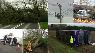 80mph winds blast East Anglia as Storm Doris sweeps in