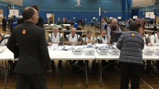 Counting taking place in Stoke-on-Trent Central by-election