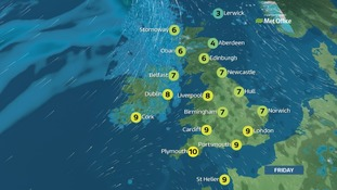 Weather: Calmer and dryer day with much lighter winds